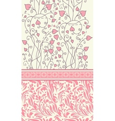 Pink background for valentine day card vector image