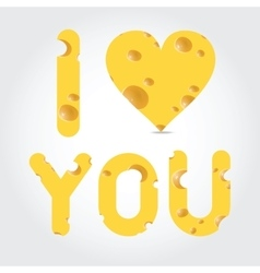 valentines day - cheese vector image vector image
