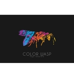 Wasp logo design Color wasp design Creative logo vector image vector image