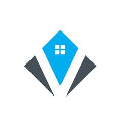 Abstract house icon logo image vector