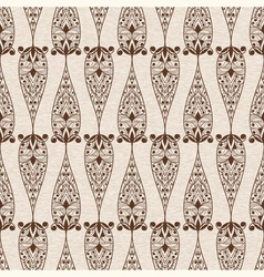 Abstract Seamless Ethnic Floral Pattern vector image vector image