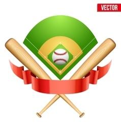 baseball leather ball and vector image