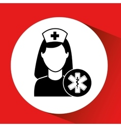 Medicine sign hospital building icon vector