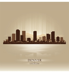Denver Colorado skyline city silhouette vector image vector image
