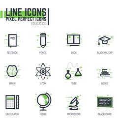 Education line set vector image vector image