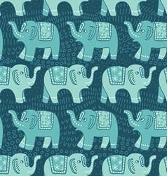 Ethnic elephant seamless pattern vector image