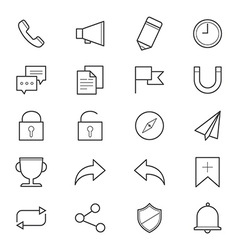 Internet and Website Icons Line vector image