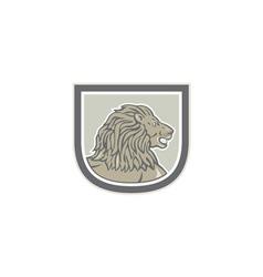 Lion Big Cat Head Side Shield vector image vector image