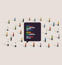 open source software development coding vector image