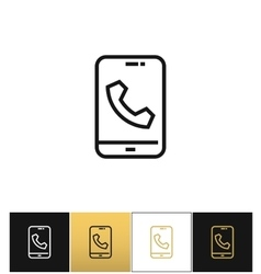 Phone call glyphs or telephone ringtone vector image