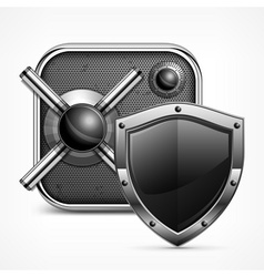 Safe icon shield vector image