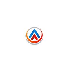 shape pyramid technology colored logo vector image