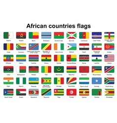 African countries flag buttons vector image vector image