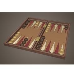 backgammon wooden tavli board game vector image