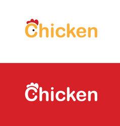 Chicken icon design vector image vector image