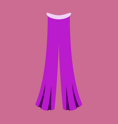icon in flat design fashion clothes pants vector image