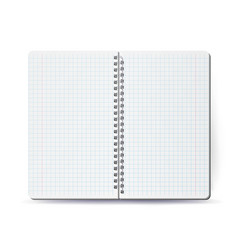 opened notebook with coil spiral spiral vector image