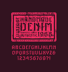 stencil-plate sans serif font in the style of vector image vector image