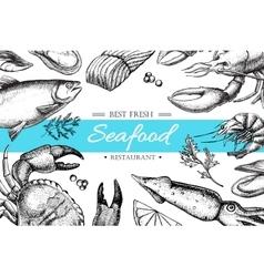 vintage seafood restaurant vector image