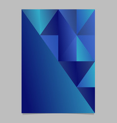 Abstract blue minimal gradient triangle brochure vector