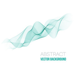 abstract green wavy lines colorful vector image