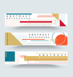 abstract retro horizontal banners vector image