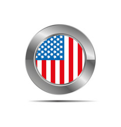 American country flag icon in form vector