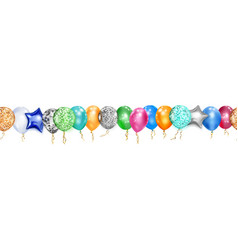 banner colored balloons vector image
