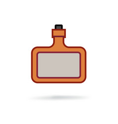 bottle of hard alcohol icon vector image