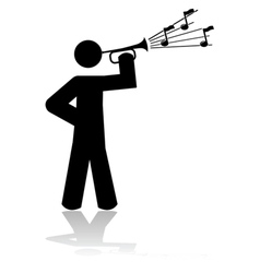 Bugle call vector image