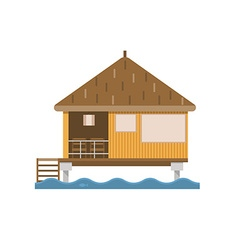 Bungalow House Building vector image