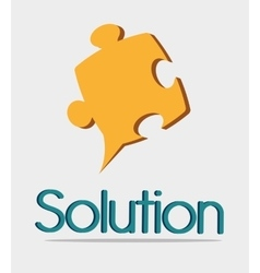 Business solutions icons design vector image