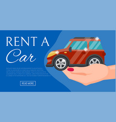 buying or renting new or used red car banner vector image