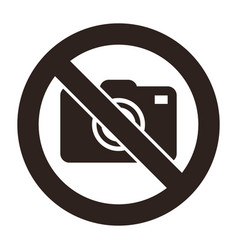 cameras prohibited sign vector image