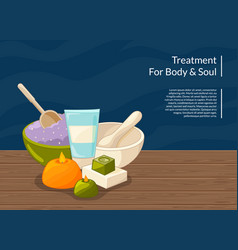cartoon beauty and spa elements vector image