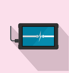charging device icon flat style vector image
