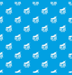 chile pattern seamless blue vector image
