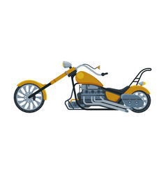 Chopper motorcycle motor vehicle transport side vector
