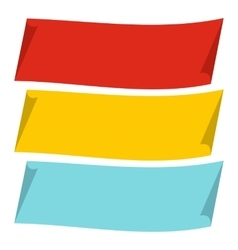 Color banners icon flat style vector