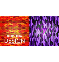 colorful mosaic covers design minimal geometric vector image