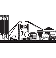 concrete batching plant vector image