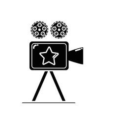 Contour short film video camera studio vector