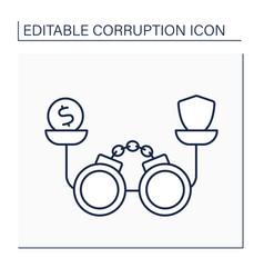 Corruption balance line icon vector