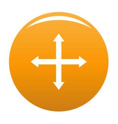 Cursor displacement web icon orange vector