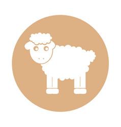 Cute sheep drawing character vector
