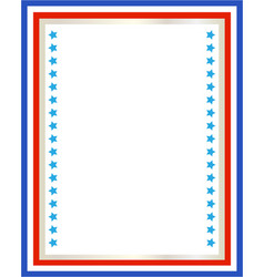 Decorative american patriotic border vector