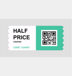 discount coupon flyer sticker or banner vector image