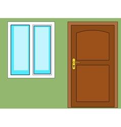 Door and window vector image
