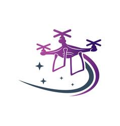 drone speed camera logo vector image