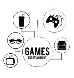 Entertainments icons design vector